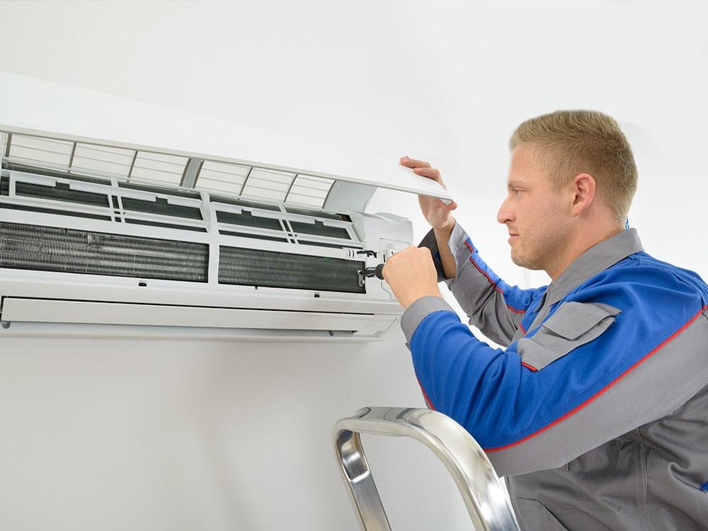 Reparatur der Klimaanlage